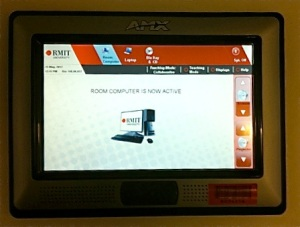 A new smartboard awaits input at RMIT