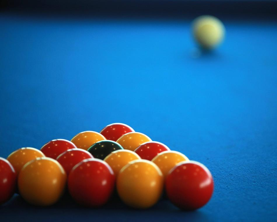 pool balls before a break
