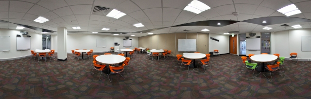 Panorama shot of new learning space at RMIT.