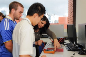 RMIT TAFE Students in class.